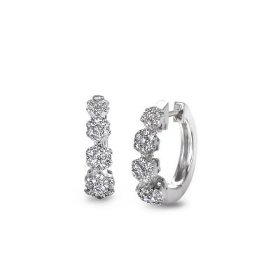 """Savoir Faire"" Diamond Hoop Earrings"