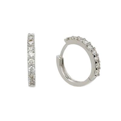 """""""Virginia Reel"""" Diamond Hoop Earrings"""