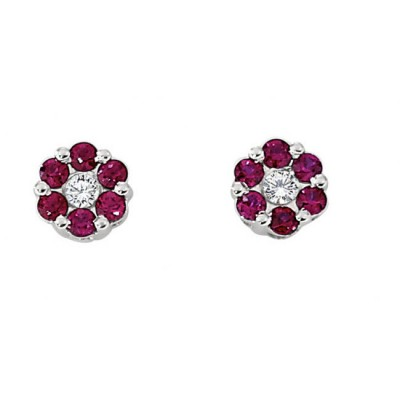 """Aria"" Ruby Earrings"