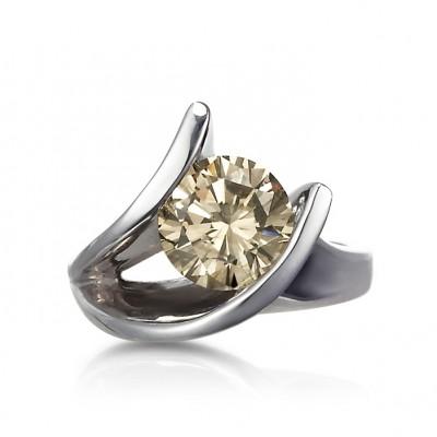 """Night Fire"" Cognac Diamond Ring"