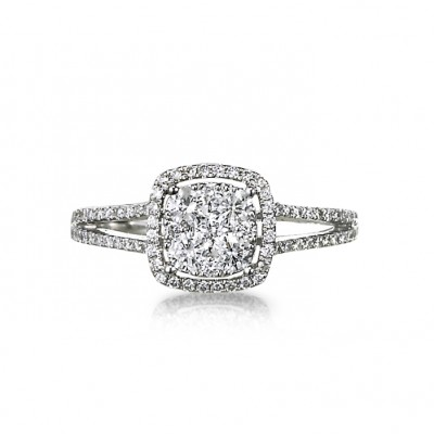 """Avanti"" Diamond Cluster Ring"