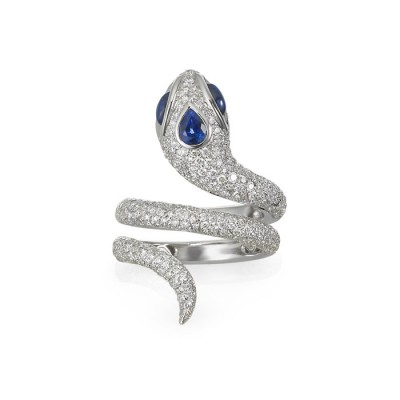 """Aspis"" Diamond & Sapphire Ring"