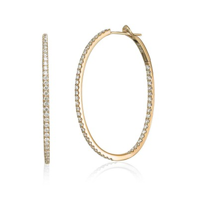 """Katarina"" Diamond Hoops"