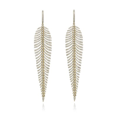 """Diamond Plumes"" Feather Earrings"