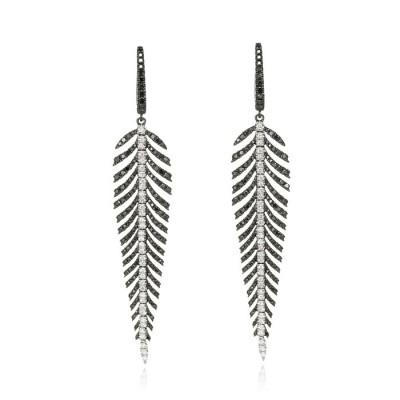 """Black Diamond Plumes"" Feather Earrings"
