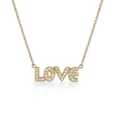 """Love"" Diamond Necklace"