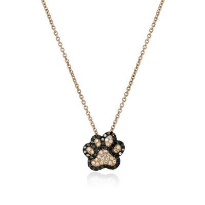 """""""Best Friend"""" Diamond Dog Paw Necklace"""