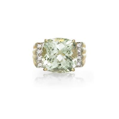 """""""Adagio"""" Green Amethyst Ring"""