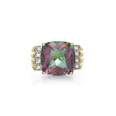 """""""Adagio"""" Rainbow Topaz Ring"""
