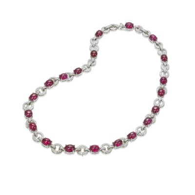 """Roussuria"" Ruby & Diamond Necklace"