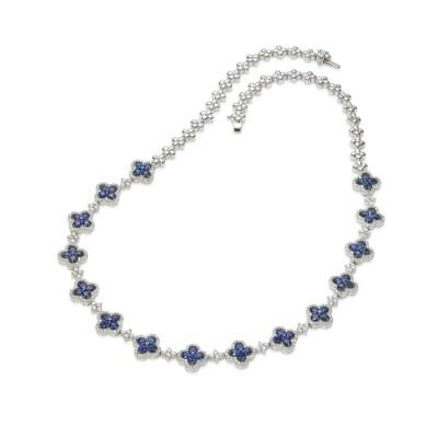 """Etonnia"" Sapphire & Diamond Necklace"