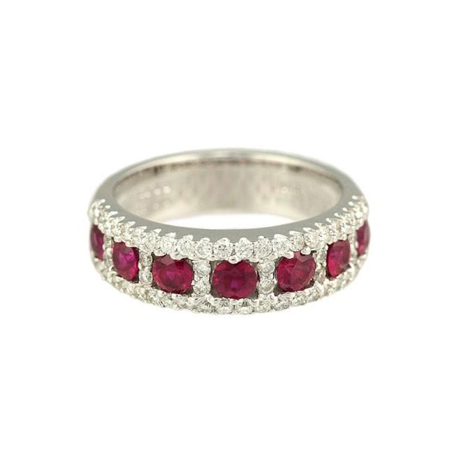 """Scarlet Fire"" Ruby & Diamond Ring"