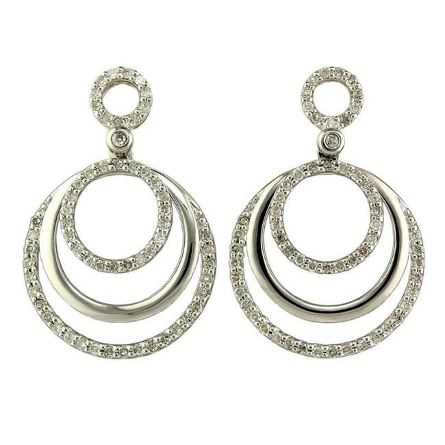 """""""Amusante"""" Diamond Hoop Earrings"""