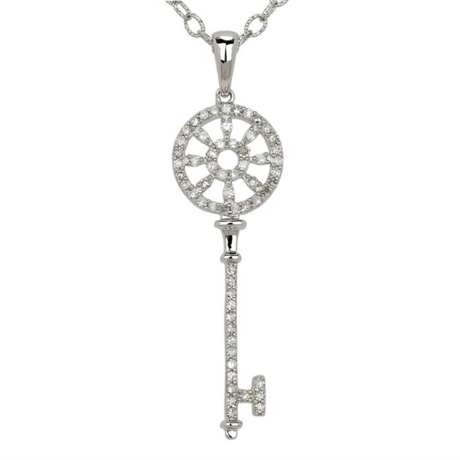 """Chiave"" Collection Diamond Ferris Wheel Key Pendant"