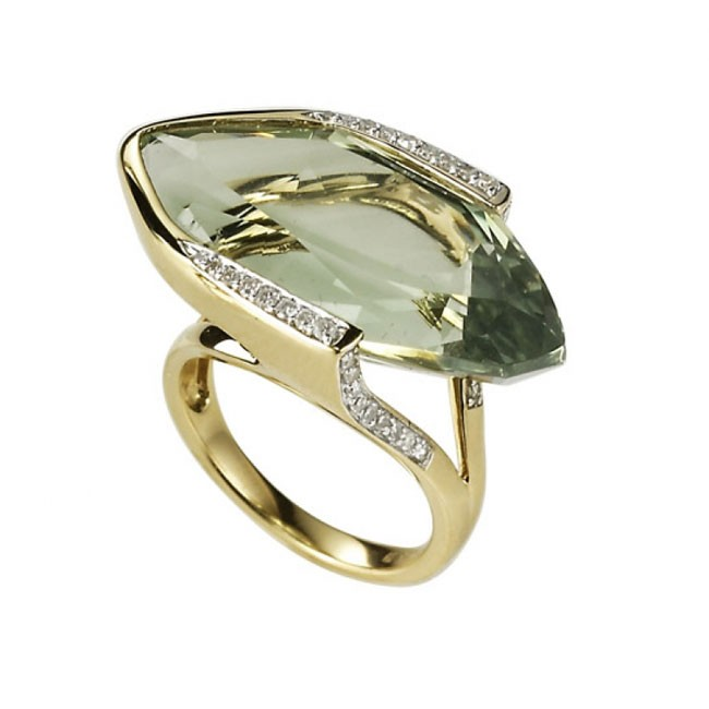 """""""The Charismatic"""" Green Amethyst Ring"""
