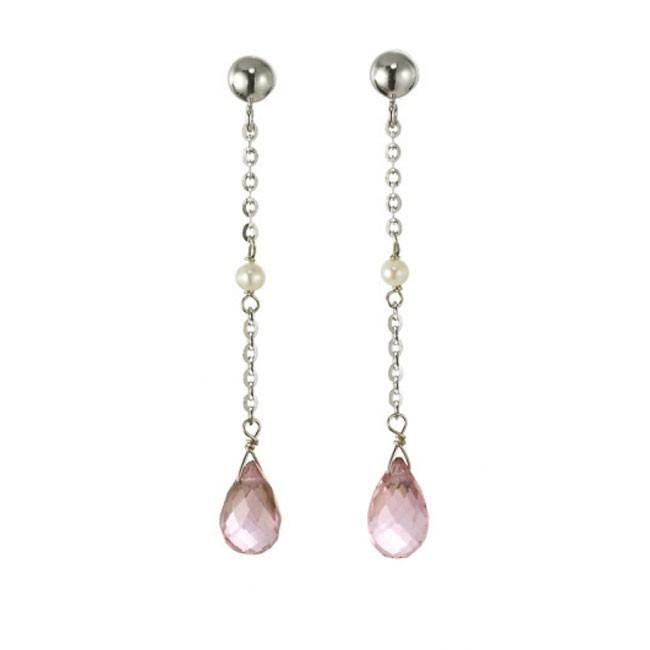 """""""Lola"""" Pink Topaz Earrings"""