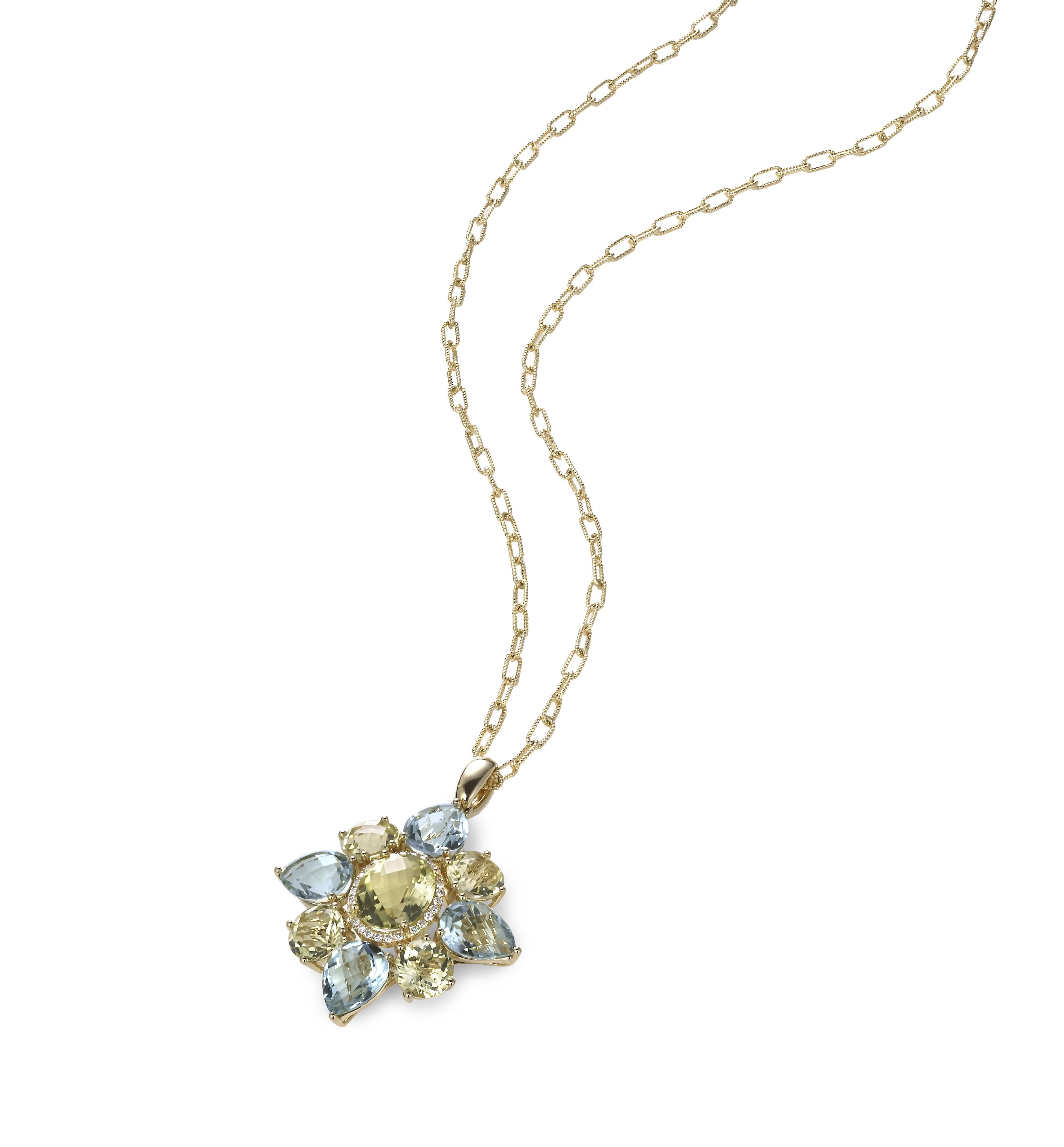 """""""Verena"""" Diamond & Quartz Pendant"""