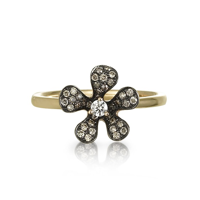"""Diamond Daisy"" Ring"