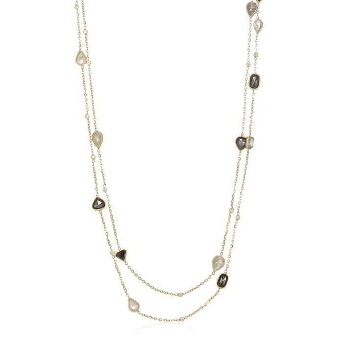 """Gemelline"" Colored Diamond Necklace"