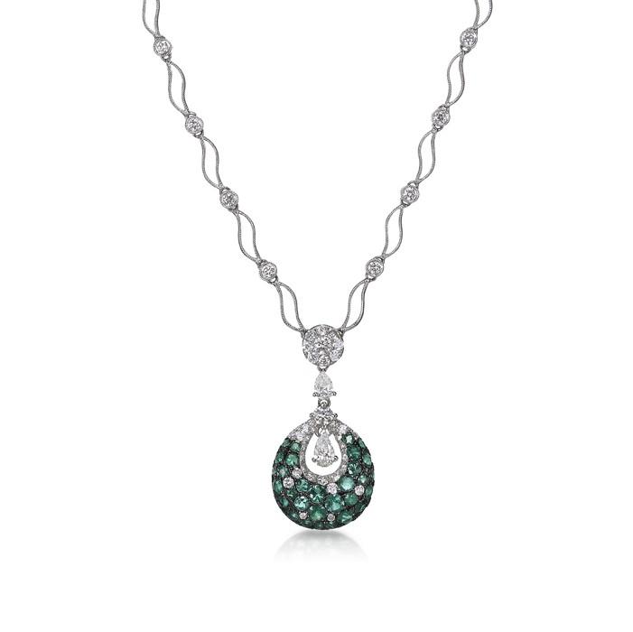 """""""Doroteia"""" Emerald Necklace"""