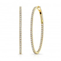 """Desdemona"" Diamond Hoops"