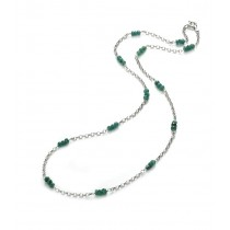 Emerald & Silver Necklace