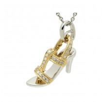 """""""Imelda"""" Diamond Pump Pendant"""