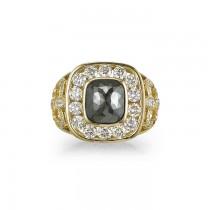"""Orion"" Black Diamond Ring"