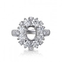 """Royal Halo"" Diamond Semi-Mount"