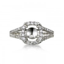 """Eglantine"" Diamond Semi-Mount"