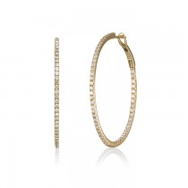 """Odelia"" Diamond Hoops"
