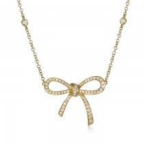 """Lulu"" Diamond Bow Necklace"