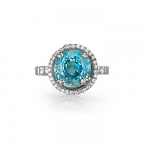 """Blue Moon"" Blue Zircon Right Hand Ring"