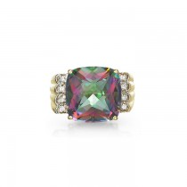 """Adagio"" Rainbow Topaz Ring"