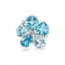 """Asteria"" Blue Topaz Ring"