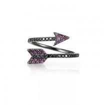 """Aramaya"" Sapphire & Diamond Arrow Ring"