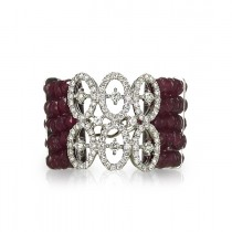 """Infinita"" Ruby & Diamond Ring"