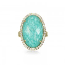 """Azure Piscine"" Right Hand Ring"