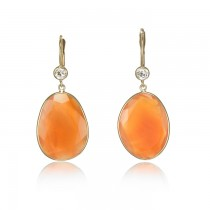 """Sunset Sky"" Carnelian Earrings"