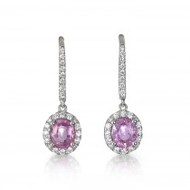 """Illusions"" Pink Sapphire Earrings"