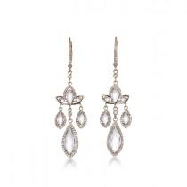 """Pink Marquise"" Earrings"