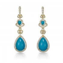 """Atlantis"" Turqouise & Diamond Earrings"