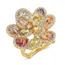 """Andalucia"" Sapphire & Diamond Ring"